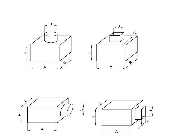 чертеж адаптера под вентиляционные решетки